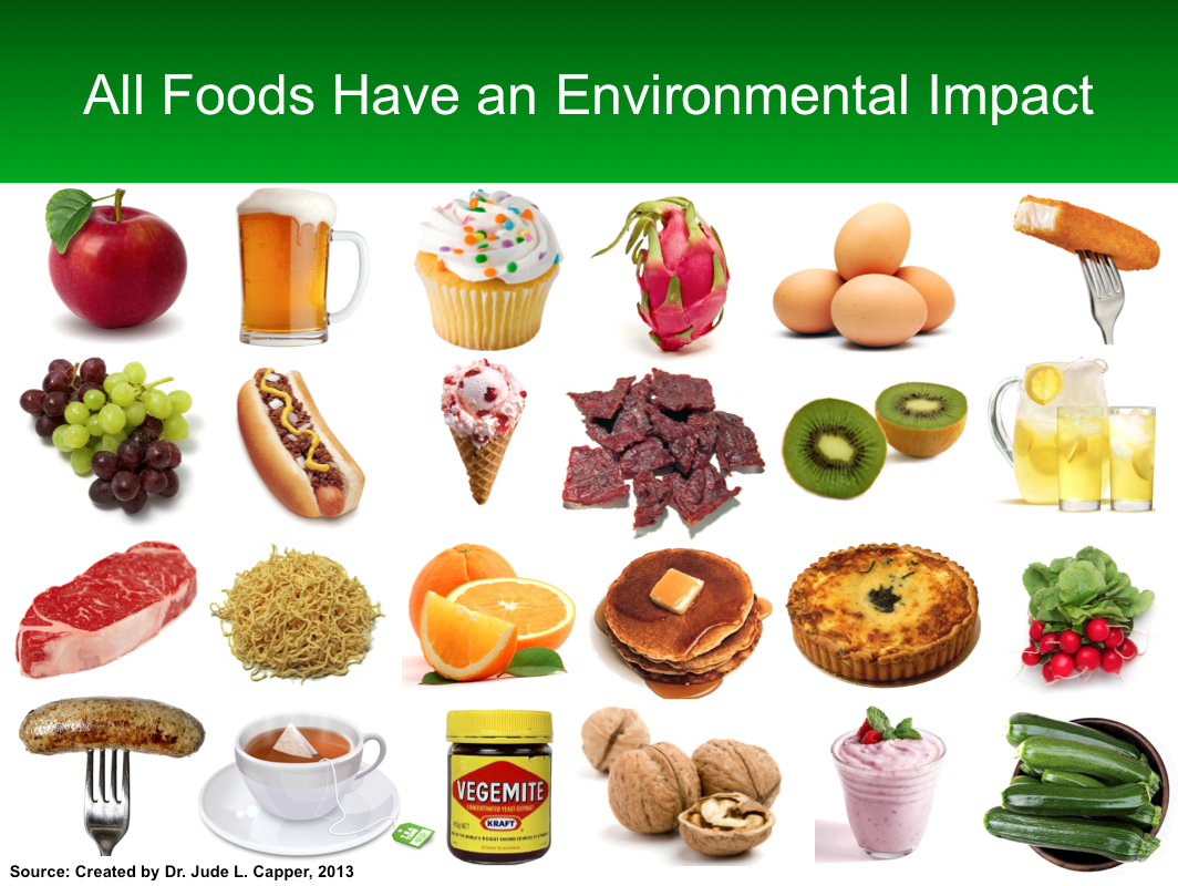 All food have an environmental impact